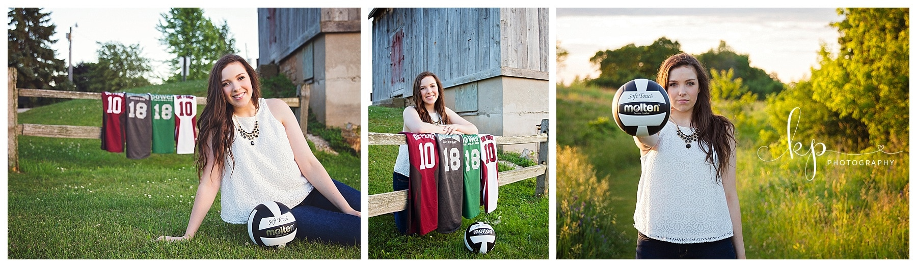 high school girl senior session at fonferek glenn volleyball