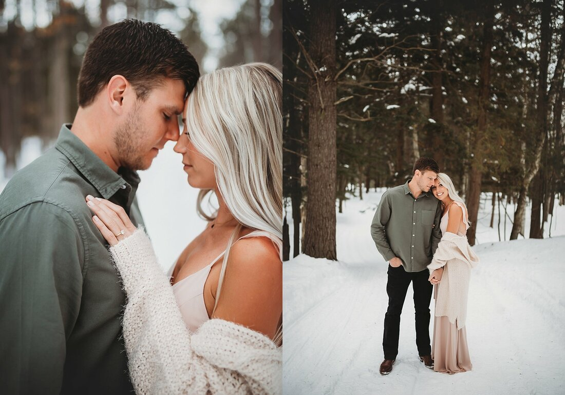 Green Bay De Pere Winter Engagement Session