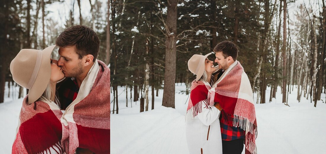 Green Bay De Pere Winter Engagement Photography Session